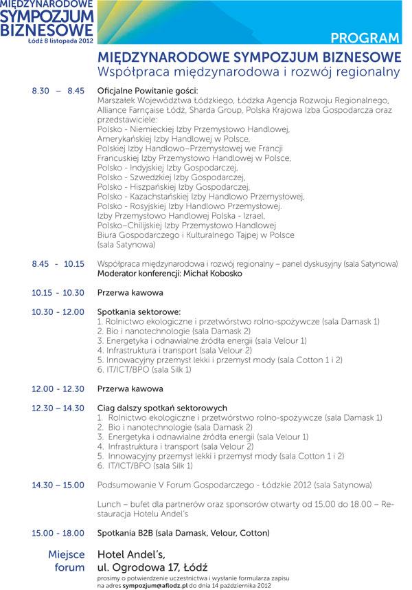 Program MSB 2012